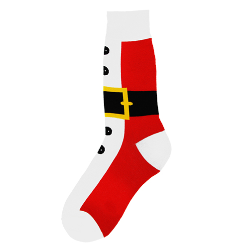 Men's Santa Suit Socks