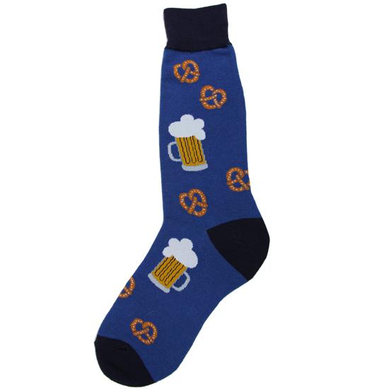 Men's Beer and Pretzel Socks
