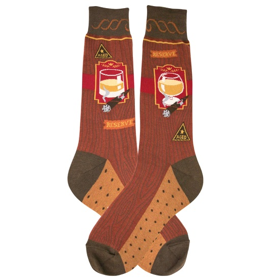 Men's Bourbon and Cigar Socks