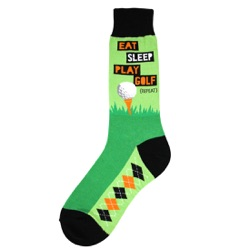 Men's Eat Sleep Golf Socks