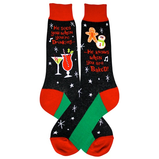 Men's Santa Knows Socks