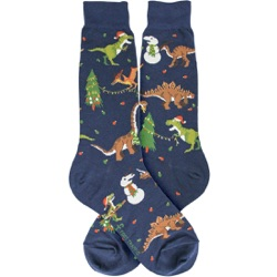 mens tree-rex christmas holiday dinosaur socks