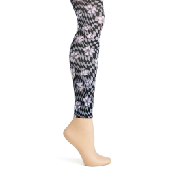 Optic Floral Footless Tights