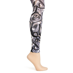 Metro Retro Black Footless Tights