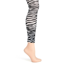 Zebra Footless Tights