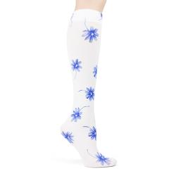 Delft Blue Daisies Trouser Socks