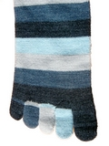 Kid's Denim Stripe Toe Socks
