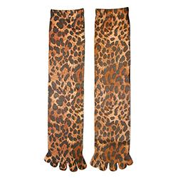 New Leopard Toe Socks