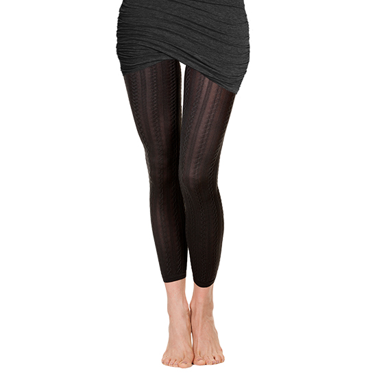 Cable Twist Footless Tights