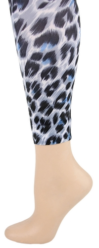 Snow Leopard Footless Tights