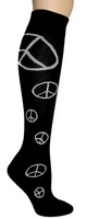 Peace Knee High Socks
