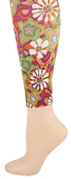 Daisy Retro pk/red/grn Footless Tights-Large/Tall