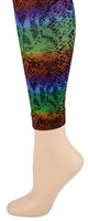 Rainbow Snakeskin Footless Tights