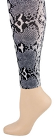 Python Black  Footless Tights-Large/Tall