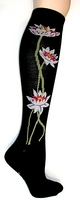 Lotus Flower Knee High Socks