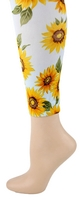 Sunflowers Footless Tights-Large/Tall