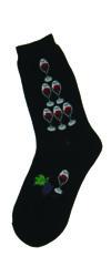 Allover Wine Women's Socks