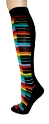 Rainbow Piano Knee High Socks