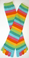 Kid's Citrus Stripe Toe Socks