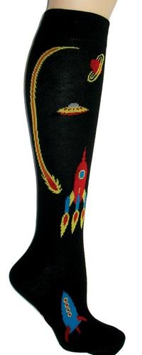 Retro Rockets Knee High Socks