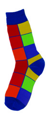 Men's Bright Squares Socks