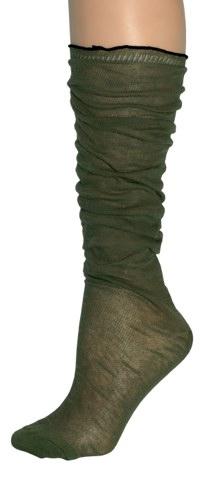 Fine Cotton Slouch Socks