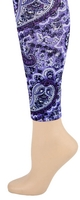 Big Purple Paisley Footless Tights