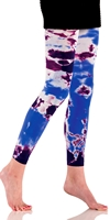 Tie Dye Microfiber Footless Tights