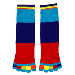 Colorblock Toe Socks
