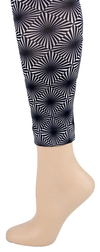 Black/White Optic Footless Tights
