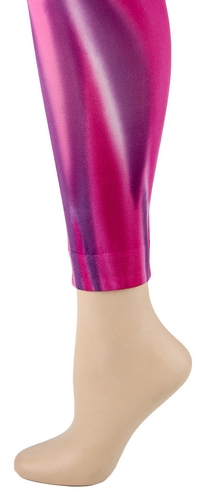 Fuchsia Vertical Swope Footless Tights