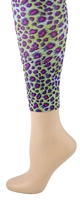 Lime Cheetah Footless Tights