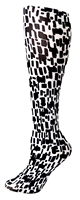 Black/White Squares Tights