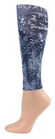Blue Batik Footless Tights-Large/Tall