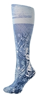 Blue Batik Tights-Large/Tall