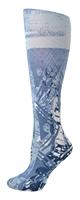 Blue Batik Trouser Socks