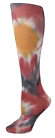 Tie Dye Grey&Red Tights-Large/Tall