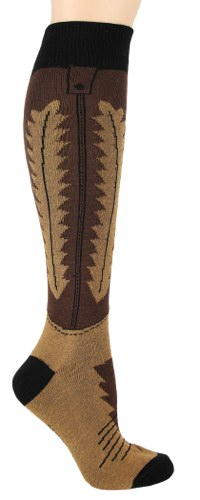 Cowboy Boot Knee High Socks