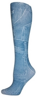 Denim Pockets TightsLarge/Tall