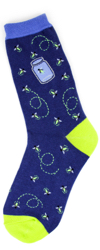 Fireflies Womens Novelty Socks
