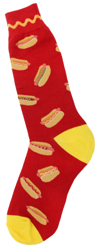 Men's Hot Dog Socks