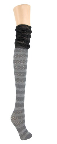 Slouch Striped Knee High