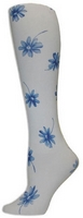 Delft Blue DaisiesTights-Large/Tall