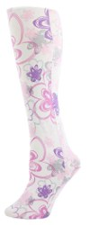floral doodle adult tights
