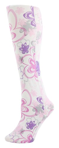 floral doodle Tights-Large/tall