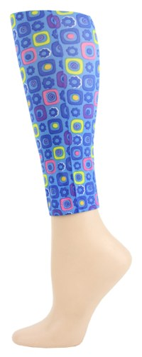arcade blue Footless Tights-Large/Tall