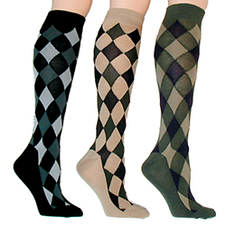 Diamond Argyle Knee Socks