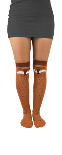 Fox Over The Knee Socks