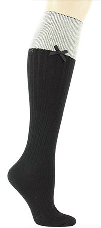 Ribbed Knee High with Bow
