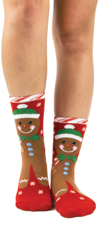 Gingerbread Slipper Sock